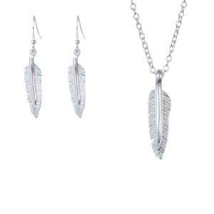 Feather pendant and drop earring set  sc 1 st  The Silver Grasshopper & Jewellery Gift Sets   The Silver Grasshopper
